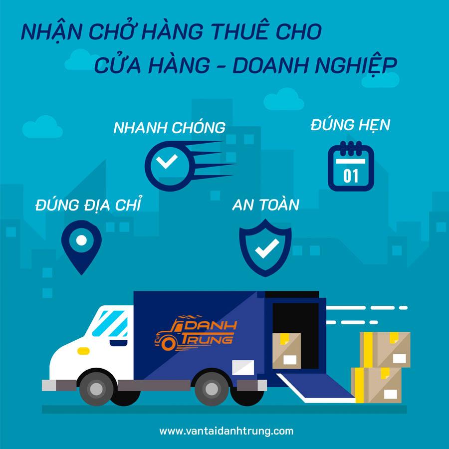 Công ty nội thất thuê xe tải chở hàng